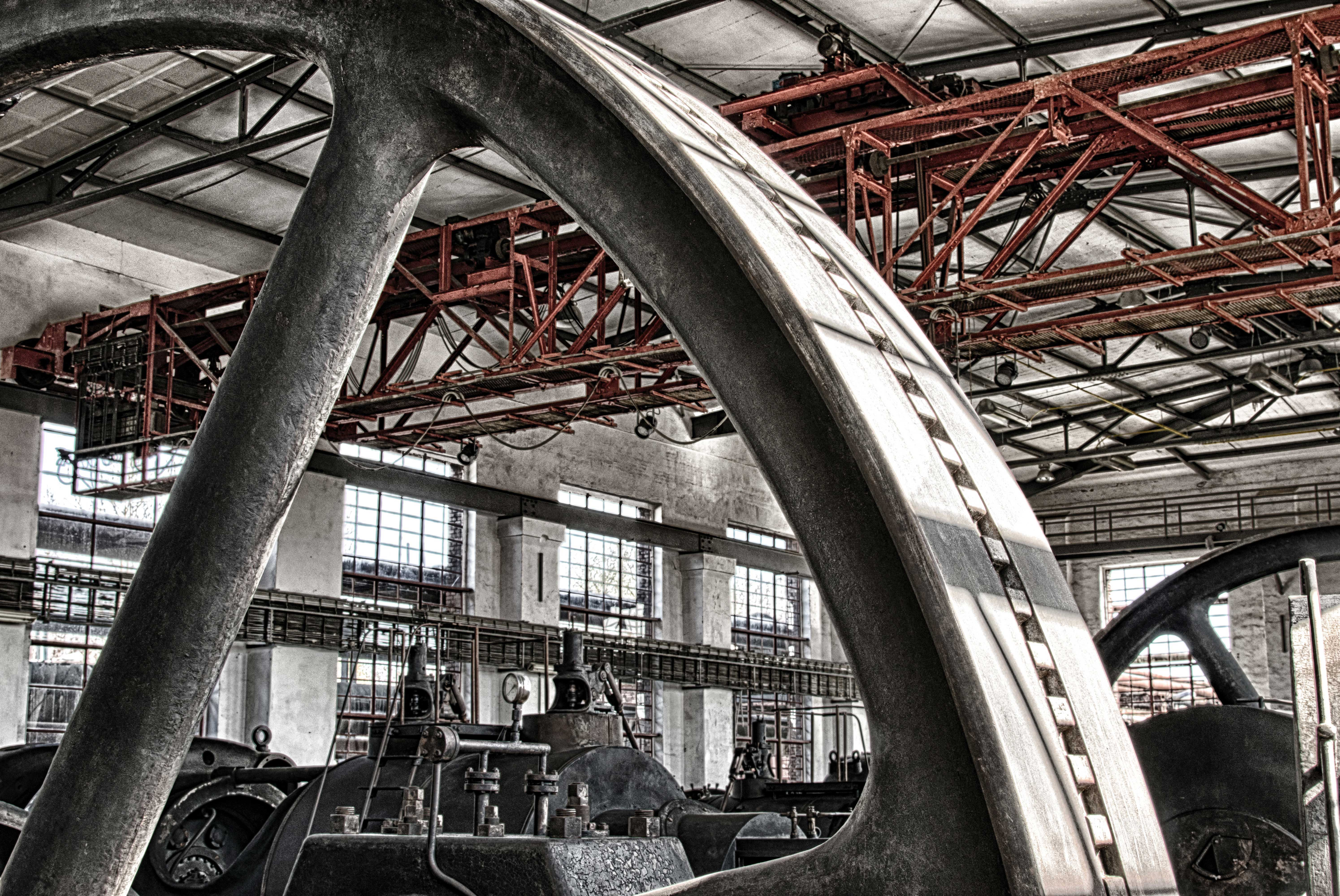 Industrial factory interior