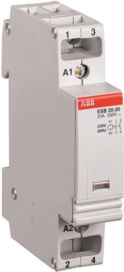 ABB CONTATTORE modulare di illuminazione ESB20-20 24V 2 N//O Contatti