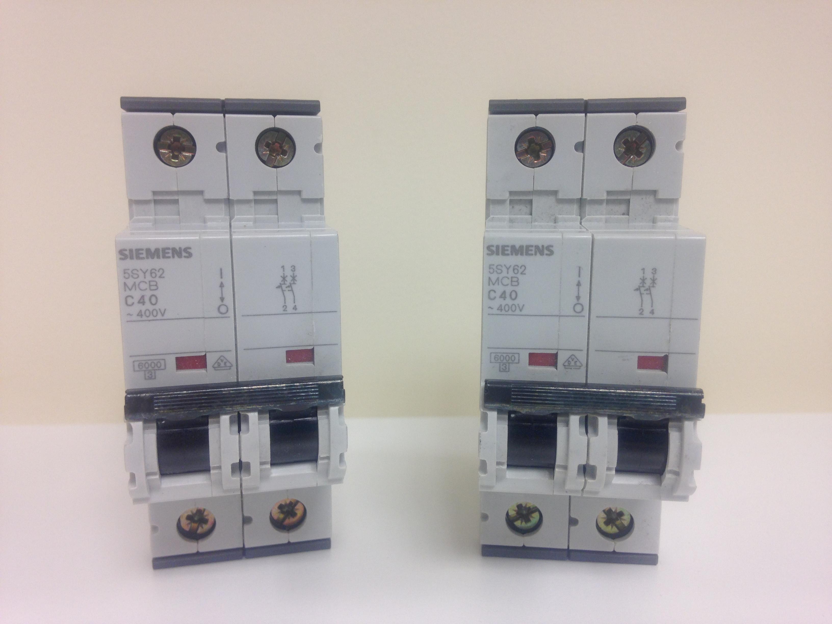 SIEMENS Circuit Breaker 2 Pole 40A 400V Type C 40A 5SY6240-7   eBay