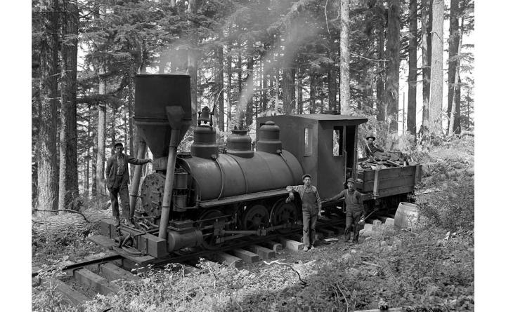 industrial steam train