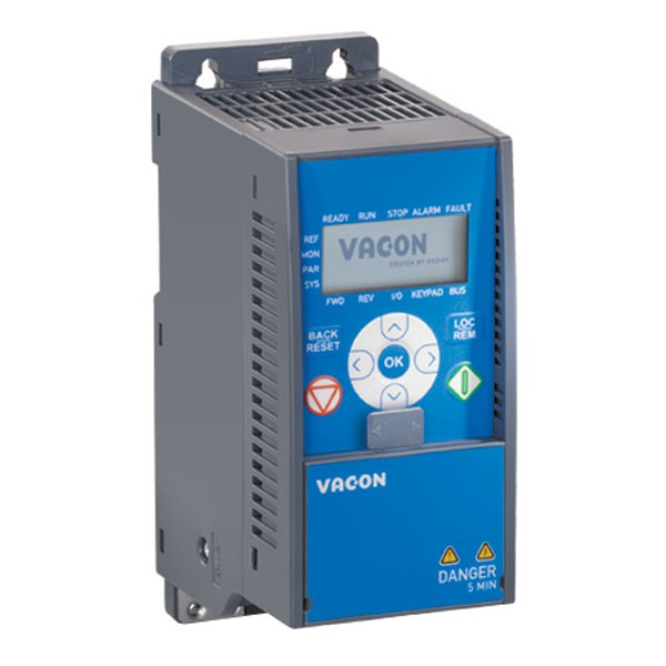 Vacon 20 VACON-0020-1L-0003-2+EMC2+QPES - 0.55Kw/2.8Amp 1 phase in 3 phase out IP21