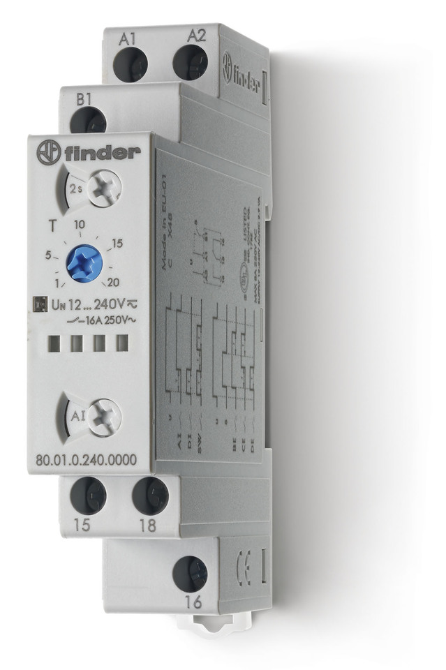 FINDER Multi-functionI Modular timer - 24...240VAC (50/60 Hz)DC 16A 1pole