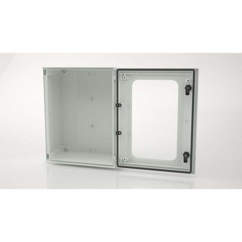 BRES-54P Safybox GRP Electrical Enclosure IP66  with a Glazed Door 500Hx400Wx200D