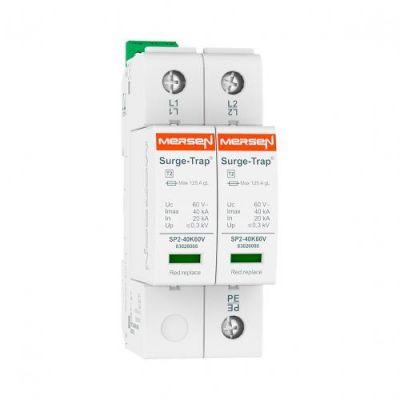 Mersen Surge Protector Type 2 SPD 2 Pole 48 Volt 20KA TNS Remote Indication