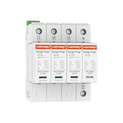 Mersen Surge Protector Type 1+2 SPD 1 Pole 120 Volt 20KA L-N Remote Indication