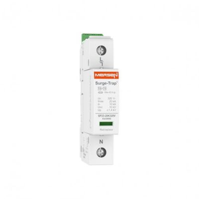 Mersen Surge Protector Type 2+3 SPD 1 Pole 230/277 Volt 10KA L-N Remote Indication