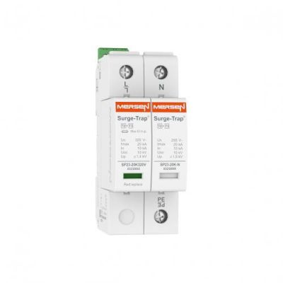 Mersen Surge Protector Type 2+3 SPD 2 Pole 230/277 Volt 10KA TT Remote Indication