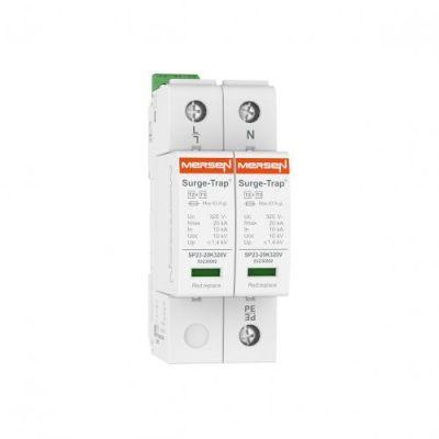 Mersen Surge Protector Type 2+3 SPD 2 Pole 230/277 Volt 10KA TNS Remote Indication