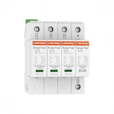 Mersen Surge Protector Type 2+3 SPD 4 Pole 120/208 Volt 10KA TNS Remote Indication