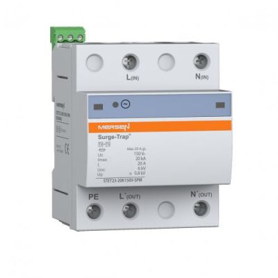 Mersen Surge Protector Type 2+3 SPD 2 Pole 120 Volt 10KA TT/TNS EMI Remote Indication