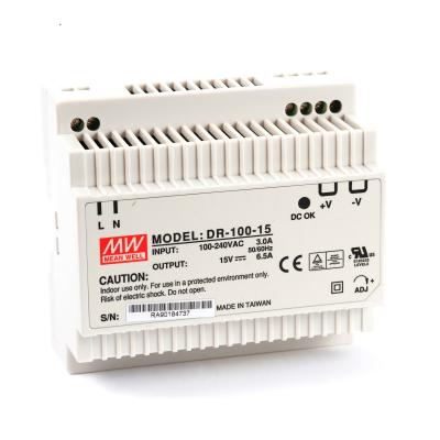 Mean well DR-100-15 100 Watt Power Supply 15V 6.50A output