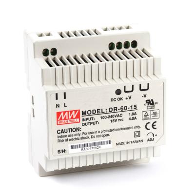 Mean well DR-60-15 60 Watt Power Supply 15V 4.00A output