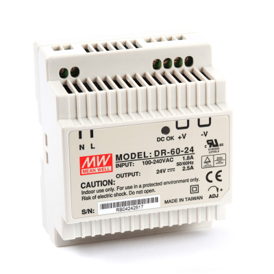 Mean well DR-60-24 60 Watt Power Supply 24V 2.50A output
