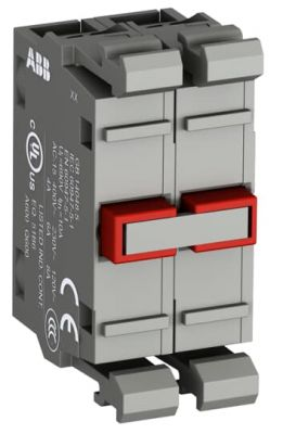 abb modular double contact block normally closed 2n/c contacts mcb-02
