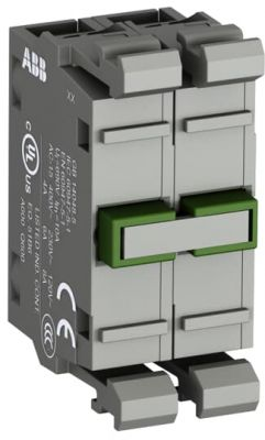 abb modular double contact block normally open 2n/o contacts mcb-20