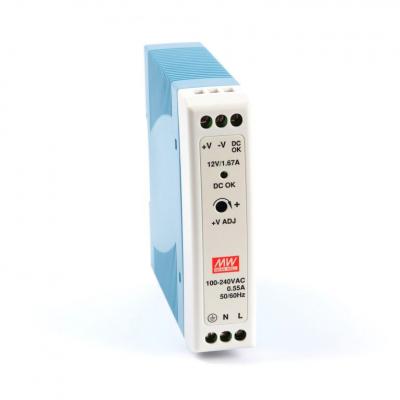 Mean well MDR-20-12 20 Watt Power Supply 12V 1.6A output