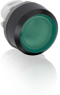 abb momentary green illuminated flush push button 22mm mp1-11g
