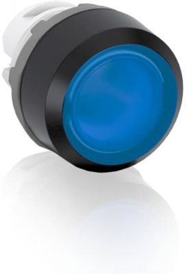 abb momentary blue illuminated flush push button 22mm mp1-11l