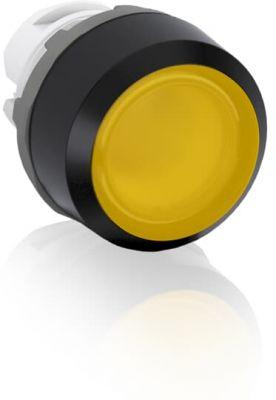 abb momentary yellow illuminated flush push button 22mm mp1-11y