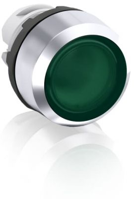 abb momentary green illuminated flush push button 22mm mp1-21g