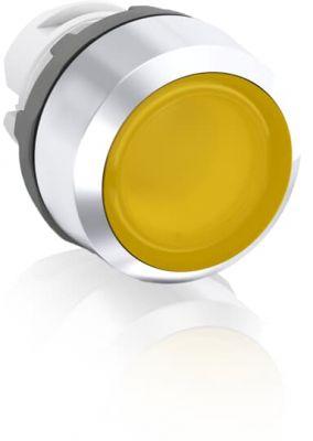 abb momentary yellow illuminated flush push button 22mm mp1-21y