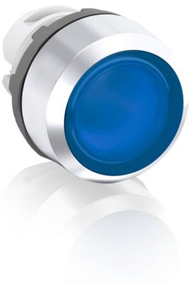 abb momentary blue illuminated flush push button 22mm mp1-31l