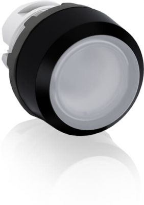abb maintained white illuminated flush push button 22mm mp2-11w