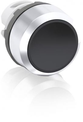 abb maintained black non-illuminated flush push button 22mm mp2-20b