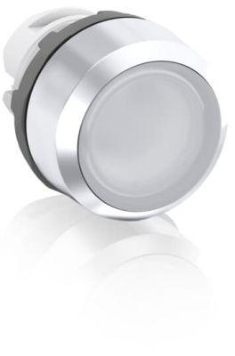 abb maintained white illuminated flush push button 22mm mp2-21w