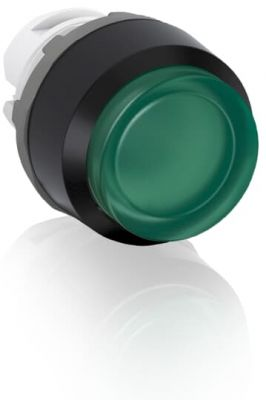 abb momentary green illuminated extended push button 22mm mp3-11g