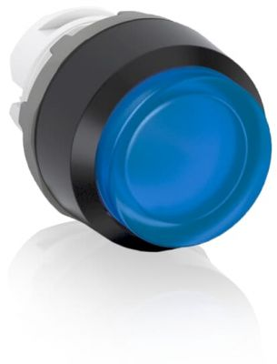 abb momentary blue illuminated extended push button 22mm mp3-11l