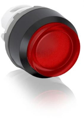 abb momentary red illuminated extended push button 22mm mp3-11r
