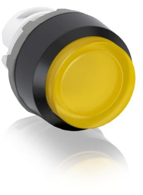 abb momentary yellow illuminated extended push button 22mm mp3-11y