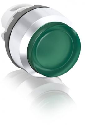 abb momentary green illuminated extended push button 22mm mp3-21g