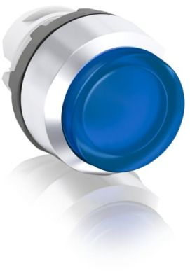 abb momentary blue illuminated extended push button 22mm mp3-21l
