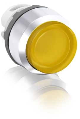 abb momentary yellow illuminated extended push button 22mm mp3-21y
