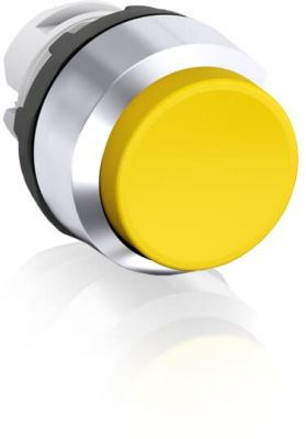 abb momentary yellow non-illuminated extended push button 22mm mp3-30y