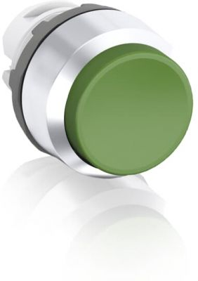 abb maintained green non-illuminated extended push button 22mm mp4-20g
