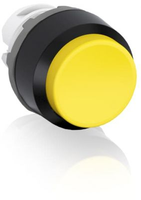 abb maintained yellow non-illuminated extended push button 22mm mp4-20y