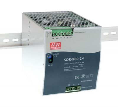 SDR-960-24 Power Supply 90-264VAC 1 phase input, output 24 volts DC 40.0 Amps