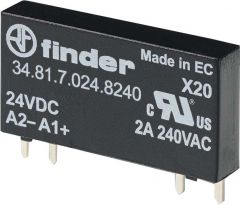 34.81.7.012.9024 Finder Solid State Relay 1NO 12 V DC 6A 24 VDC