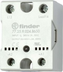 77.25.9.024.8650 Finder solid state relay DC 24V 48/600VAC