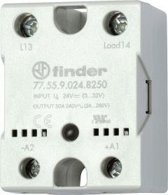 77.55.9.024.8650 Finder solid state relay (SSR) DC 24V 48/600VAC