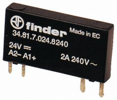 34.81.7.060.8240 Finder Solid State Relay 1NO 60 V DC 2A 240 VAC