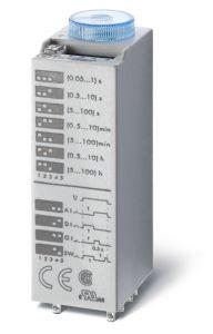 Finder 85.04.0.125.0000 85 Series plug in Modular Timer  4 Pole  7 Amp 110..125 Volt AC/DC