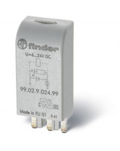 Finder 99.02.0.230.59 99 series Coil indication and EMC suppression modules for 90/92/94/95/96/97 series relay bases