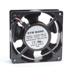 A12038.115S ETE 115V AC Sleeve bearing cooling fan - 38 D x 120 W x 120 H mm - 1.71~1.84 cu m/min free blowing