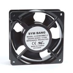 A12038.230 ETE 230V AC Ball bearing cooling fan - 38 D x 120 W x 120 H mm - 1.71~1.84 cu m/min free blowing