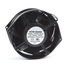 A15055.115 ETE 115V AC cooling fan - 55 D x 150 W x 150 H mm - 5.66~6.79 cu m/min free blowing