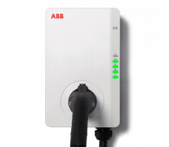 ABB6AGC081281 ABB Wall Mounted Car Charger Three Phase 32 Amp Display/RFID/4G